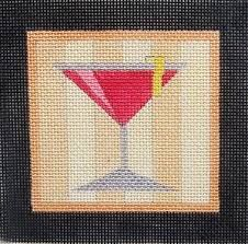 Image result for cocktail needlepoint designs