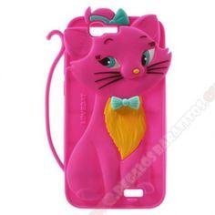 Carcasa divertida 3D diseño gato varios colores para Huawei Ascend G7