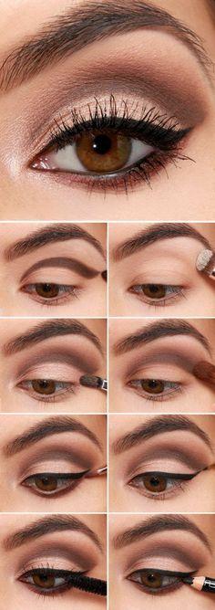 tuto maquillage yeux noisettes maquillage yeux marrons comment faire photos par étapes