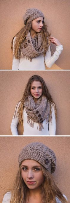 gorros tejidos de gancho paso a paso Girly Outfits, Winter Hats, Long Scarf, Lace Jumpsuit, Beanies, Sandal