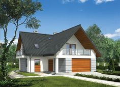 Bungalow Renovation, Bungalow House Plans, 2 Storey House, Home Exterior Makeover, House Front Design, Attic Rooms, Architect House, Minimalist Home, Home Fashion