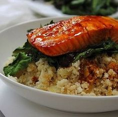 Φανταστικός σολομός με μέλι και τζίντζερ! Grains, Pork, Rice, Meat, Kale Stir Fry, Seeds, Pork Chops, Laughter, Jim Rice