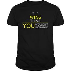 WING T-Shirts, Hoodies. ADD TO CART ==► https://www.sunfrog.com/LifeStyle/WING-94815991-Black-Guys.html?id=41382