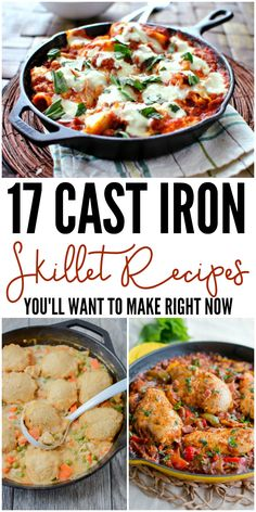 17 Cast Iron Skillet Recipes You'll Want to Make Right Now - - Cast iron skillets can go from the stovetop to the oven, to the grill and beyond. Here are some cast iron skillet recipes to go with this kitchen must-have,.