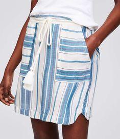 Shop LOFT for stylish women's clothing. You'll love our irresistible LOFT Beach Mixed Stripe Drawstring Skirt - shop LOFT.com today!