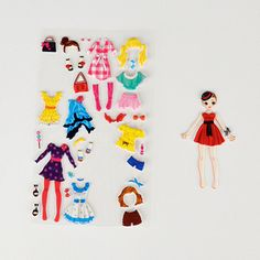 A sheet of stickers filled with accessories and outfits for the sticker doll. Dress her up in hundreds of different ways... €2.50