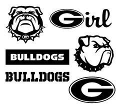 University of Georgia Bulldogs SVG and DXF Cut by OhThisDigitalFun