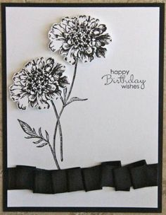 Black and White Field Flowers by ladybugdesigns - Cards and Paper Crafts at Splitcoaststampers