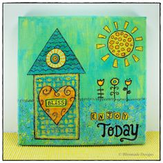 Canvas Wall Art - Enjoy Today - Painting Mixed by BlissmadeDesigns