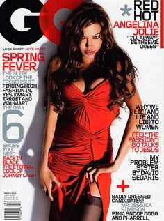 Angelina Jolie on the Cover of GQ: March 2004 Ugh. Magazine Gq, Gq Magazine Covers, Magazine Cover Design, Cosmopolitan Magazine, People Magazine, Hottest Female Celebrities, Celebs, Angelina Jolie Fotos, Desi Wedding Dresses
