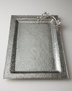 White Orchid Glass Tray by Michael Aram at Horchow.