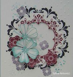 Beautiful floral wreath card...Birthday by Sylviascorner on Etsy