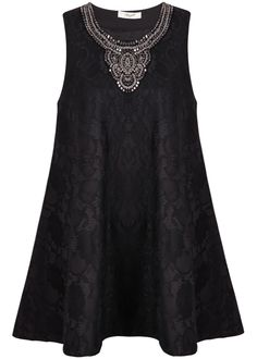 To find out about the Black Sleeveless Bead Lace Loose Dress at SHEIN, part of our latest Dresses ready to shop online today! Cheap Dresses, Elegant Dresses, Women's Dresses, Infinity Dress Ways To Wear, Lil Black Dress, Sleeves Designs For Dresses, Tent Dress, Skirt Outfits, Plus Size Dresses
