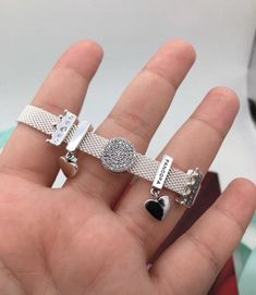 Pandora Jewelry OFF!>> Reflexions Bracelet With Charms or Not 925 Sterling Silve CZ Fits to Reflexions Pandora Cha Pandora Bracelets, Pandora Jewelry, Pandora Charms, Charm Bracelets, Pandora Pandora, Types Of Diamonds, Vintage Costume Jewelry, Vintage Jewellery, Bridal Jewelry