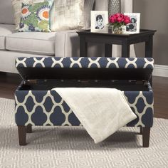 HomePop Large Decorative Storage Ottoman $125