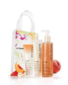Satin Hands Set, Mary Kay Cosmetics -- Use this on your hands and your bust area. Keeps the skin looking young and glowy. I love this stuff!