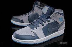Air Jordan 1 Mid - New Slate / Dark Powder Blue - Wolf Grey