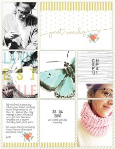 """""""iknit_02""""- digital scrapbook layout by paddy wolf- made with marisa lerin """"peacky keen"""" kit available at pixelscrapper.com"""