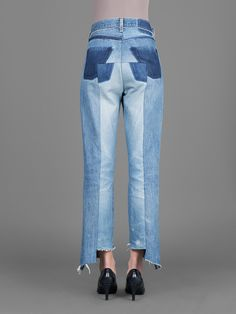 VETEMENTS optical illusion in the hind quarters of these jeans is simply genius. Great when up cycling jeans!