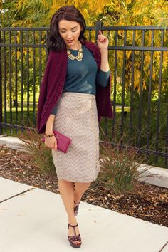 Fall fashion must-have: sparkle tweed skirt from J.Crew