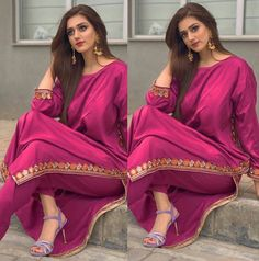 Only Suit Walian Kudiyan ( Simple Pakistani Dresses, Pakistani Fashion Casual, Pakistani Dress Design, Pakistani Outfits, Indian Outfits, Pakistani Kurta, Patiala Salwar, Shalwar Kameez, Kurti Neck Designs