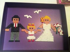 Wedding portrait to gift or decorate in your por MerinosCrafts