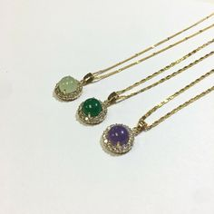 Jade Necklace with Gold plated chain - Yellow Gold Plated Chain - Ideas of Yellow Gold Plated Chain #YellowGoldPlatedChain Jade Necklace, Jade Jewelry, Stone Necklace, Jewelry Necklaces, 14k Gold Chain, Gold Plated Necklace, Gold Chains, Heart Chain, Jade Stone