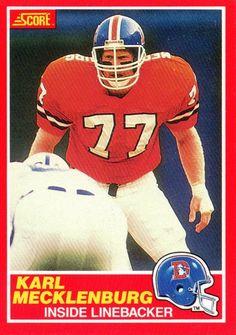 b681aa221 Karl Mecklenburg rookie broncos football card