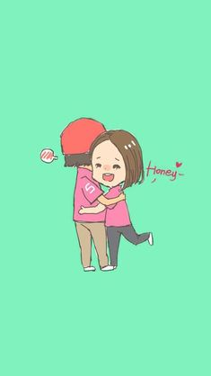 40 Cute Cartoon Couple Love Images HD