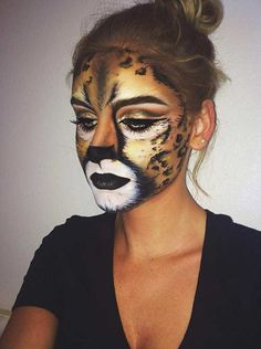 Cheetah Halloween Makeup Idea