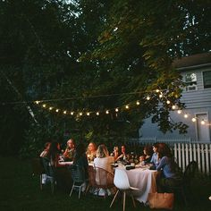 One of my favorite gatherings ever, from last summer back home in NJ with family and friends. Looking forward to the days of dinner al fresco. Photo by @annanovak