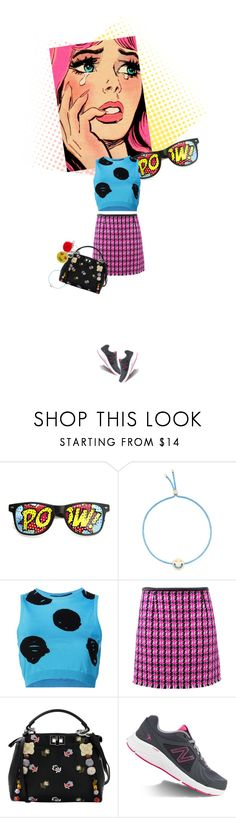 """Contrasts: Crazy Cool Sunglasses"" by sharmarie ❤ liked on Polyvore featuring ZeroUV, Ruifier, Jeremy Scott, Marc Jacobs, Fendi, New Balance and Bari Lynn"