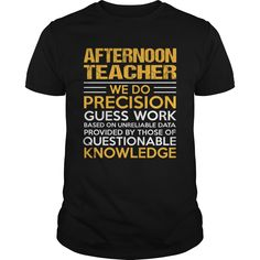 AFTERNOON TEACHER T-Shirts, Hoodies. VIEW DETAIL ==► https://www.sunfrog.com/LifeStyle/AFTERNOON-TEACHER-117383981-Black-Guys.html?id=41382