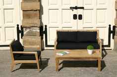 New Menton Garden Sofa Range at Bau Outdoors. Best with black fabric cushions