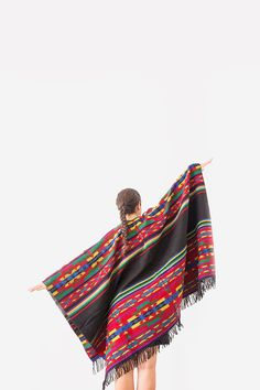 Tribal Poncho Capes Aztec Poncho Ethnic Poncho Ethnic Coat by Urbe