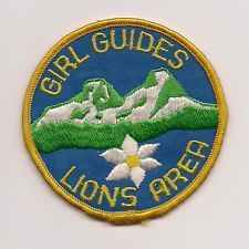 GIRL GUIDES CANADA PATCH - LIONS AREA VANCOUVER