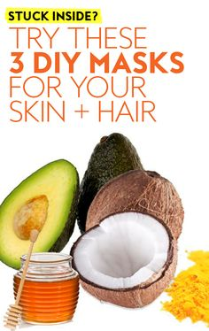 Did you stock up for Here's a way those excess provisions could benefit your hair and skin. Home Beauty Tips, Diy Beauty, Beauty Hacks, Honey Hair Treatments, Face Mask Ingredients, Avocado Hair Mask, Good Morning Beautiful Flowers, Coconut Hair, Banana For Hair