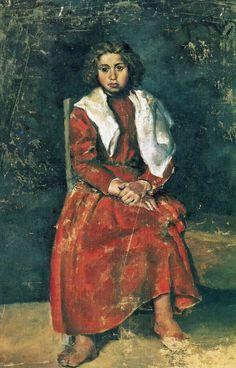 PicassO - La fille aux pieds nus, 1895, huile sur toile, Museu Picasso, Barcelone, Espagne