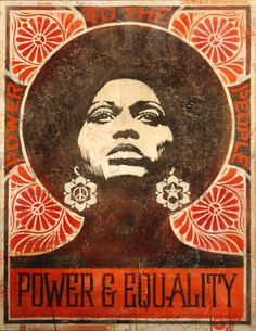 """""""Power and Equality"""" Artist: Shepard Fairey, OBEY Angela Davis: former Black Panther, UCSC Professor, and Political Activist (sooo sad I had this as a shirt but it got ruined in the wash! Angela Davis, Black Power, Kunst Poster, Poster Poster, Party Poster, Art Africain, Power To The People, Feminist Art, African American History"""