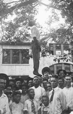 The lynching of 16 year old Lige Daniels, Center, Texas, 1920.