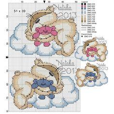 ponto cruz bebe graficos nuvens - Pesquisa do Google