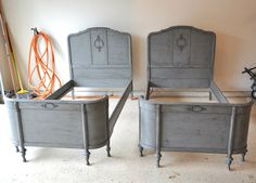 DIY:    Painting & distressing tutorial, using homemade chalk paint.