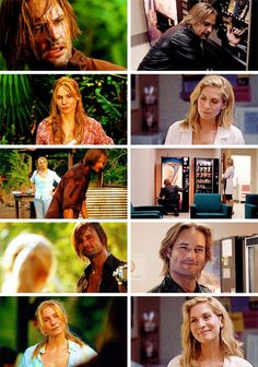 """But in the watching of Sawyer and Juliet, there is this idea that it's not the… Bts Lost, Lost Sawyer, Lost Memes, Serie Lost, Lost Tv Show, Elizabeth Mitchell, Josh Holloway, Peculiar Children, Living Together"
