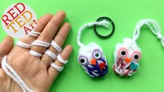 Finger Knitting Owl
