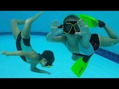 Kids swimming pool ❤️ Like little mermaids underwater