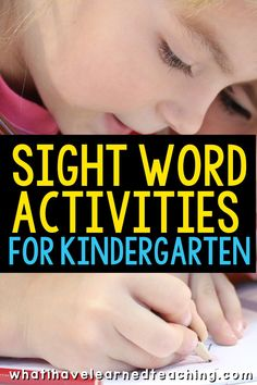 What activities can you use in your kindergarten classroom to help your students learn their sight words? Here are a few ideas you can use in your classroom! Teaching First Grade, Kindergarten Classroom, Kindergarten Activities, Student Learning, Classroom Resources, Classroom Decor, Teacher Resources, Sight Word Activities, Reading Activities
