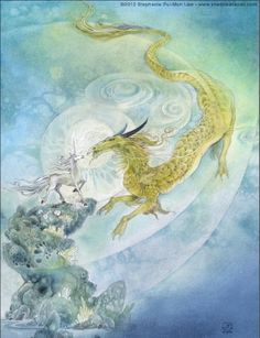 ShadowScapes - Dragon and Unicorn - Masculine and Feminine