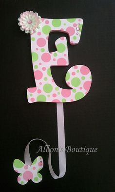 Hair Bow Holder ANY Letter you chooseANY by AlbonsBoutique on Etsy, $15.00