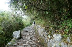 The classical inca trail to Machu Picchu and its cobbled stones. Takes you to the inca ruins in 4 days