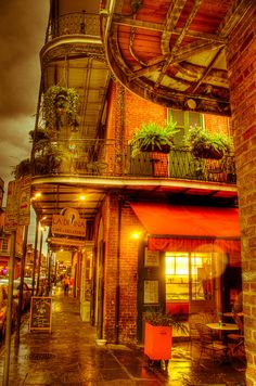 There's no place in the South like the New Orlean's French Quarter ~ Colette @}-,-;---